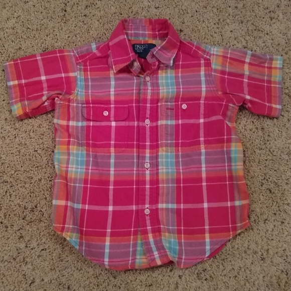 Polo by Ralph Lauren boys button up shirt size 2T